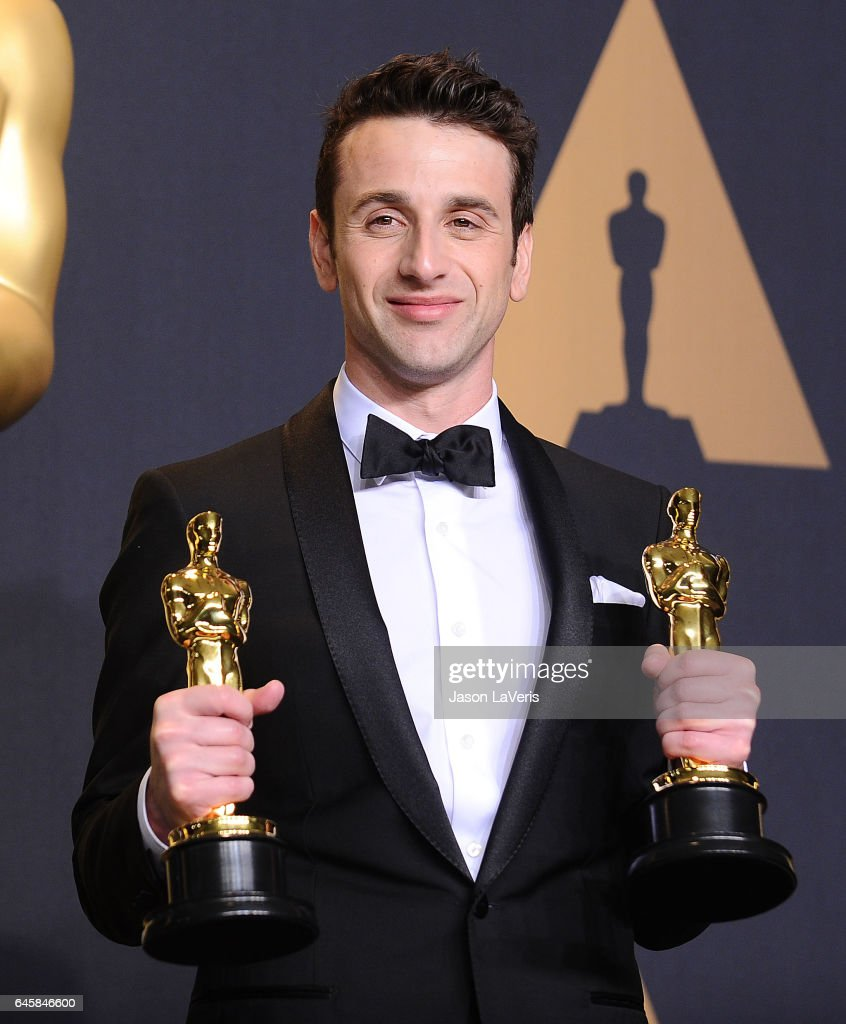 Composer Justin Hurwitz poses in the press room at the 89th annual Academy Awards at Hollywood & Highland Center on February 26, 2017 in Hollywood, California.