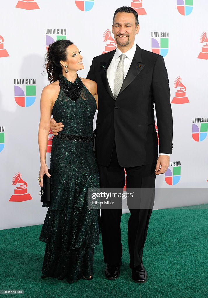 Composer Kike Santander (R) and Adriana Santander arrive at the 11th annual Latin GRAMMY Awards at the Mandalay Bay Resort & Casino on November 11, 2010 in Las Vegas, Nevada.