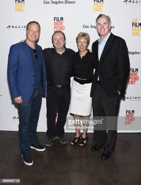 Composer Kim Planert producers Doug Blush and Gabriele Hayes and filmmaker Mark Hayes attend the 2017 Los Angeles Film Festival 'Skid Row Marathon'...