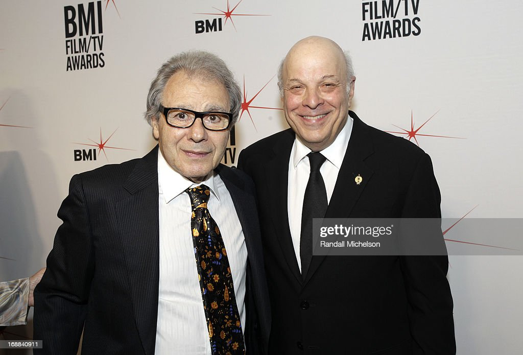 BMI composer Lalo Schifrin and Charles Fox attends the 2013 BMI Film/TV Awards at the Beverly Wilshire Four Seasons Hotel on May 15 2013 in Beverly...
