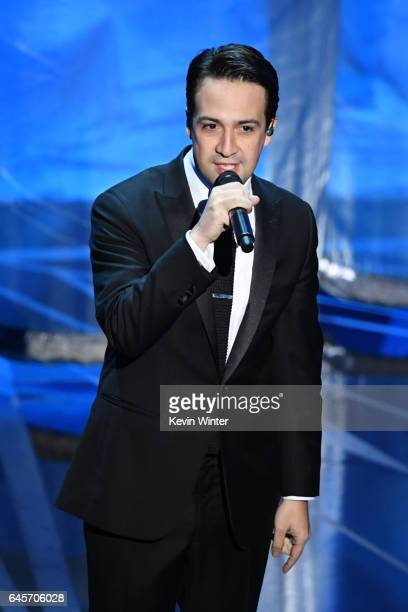 Composer LinManuel Miranda performs onstage during the 89th Annual Academy Awards at Hollywood Highland Center on February 26 2017 in Hollywood...