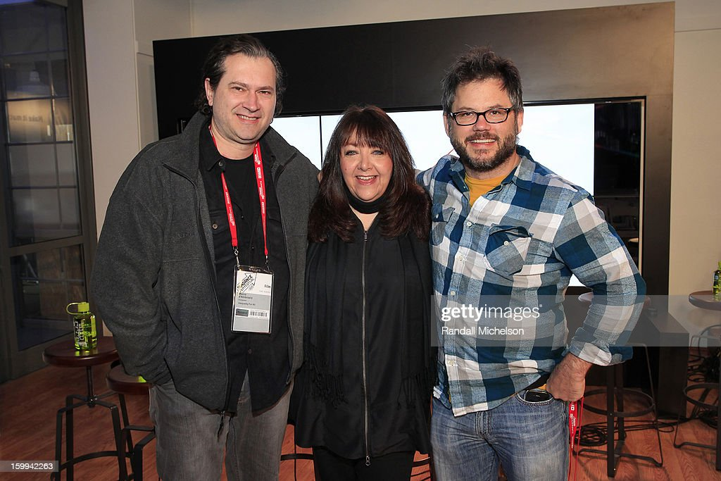 Composer Maco d'Ambrosio, BMI Executive Doreen Ringer-Ross and Director Jacob Kornbluth attend the BMI Roundtable at Sundance House on January 23, 2013 in Park City, Utah.