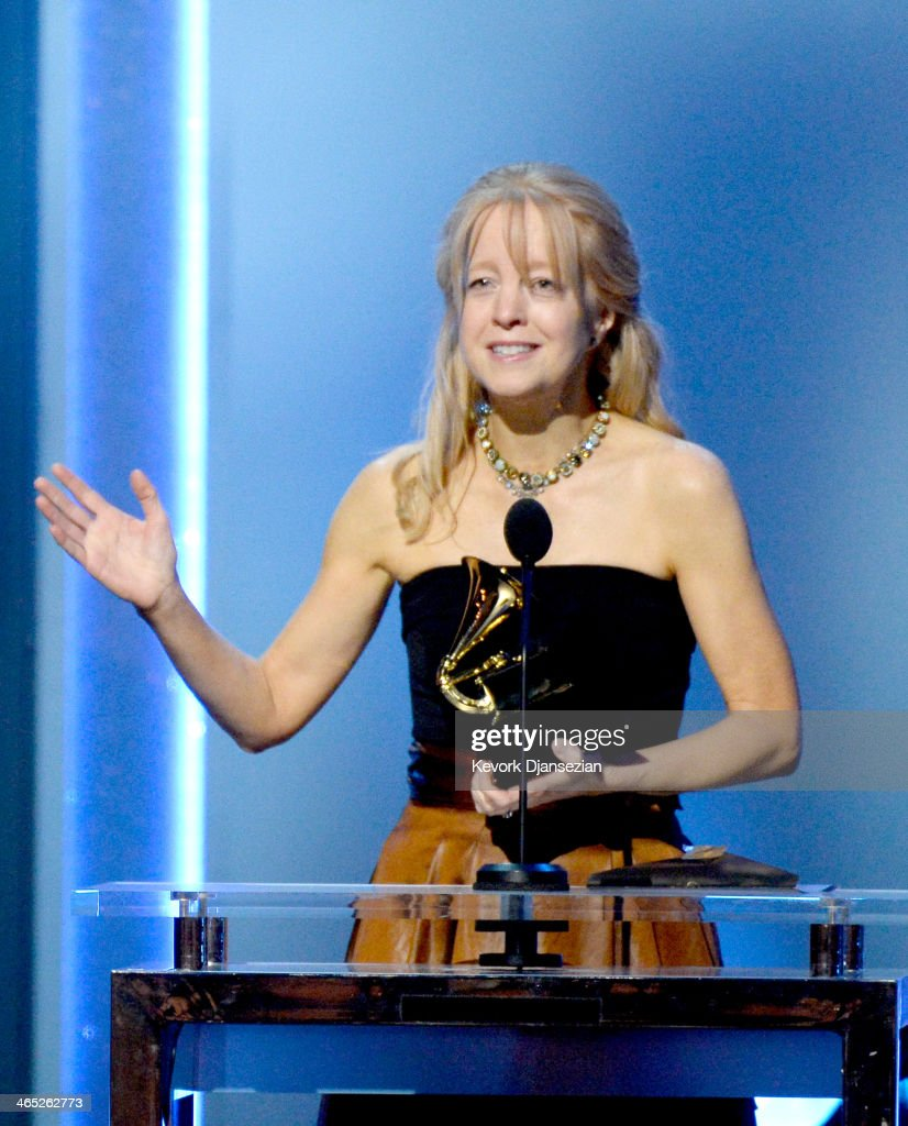 Composer Maria Schneider accepts the Best Classical Contemporary Composition award for 'Winter Morning Walks' onstage during the 56th GRAMMY Awards Pre-Telecast Show at Nokia Theatre L.A. Live on January 26, 2014 in Los Angeles, California.