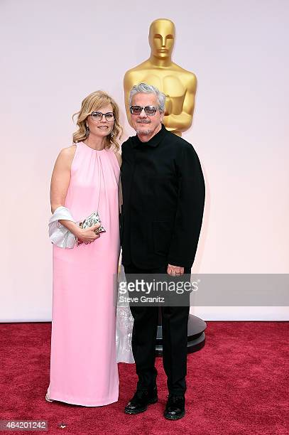 Composer Mark Mothersbaugh and Anita Greenspan attend the 87th Annual Academy Awards at Hollywood Highland Center on February 22 2015 in Hollywood...