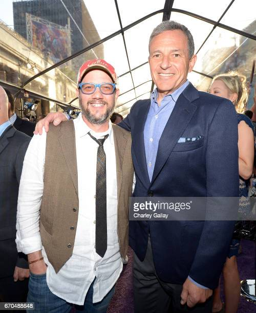 "Composer Michael Giacchino and CEO of Disney Bob Iger at The World Premiere of Marvel Studios' ""Guardians of the Galaxy Vol 2"" at Dolby Theatre in..."