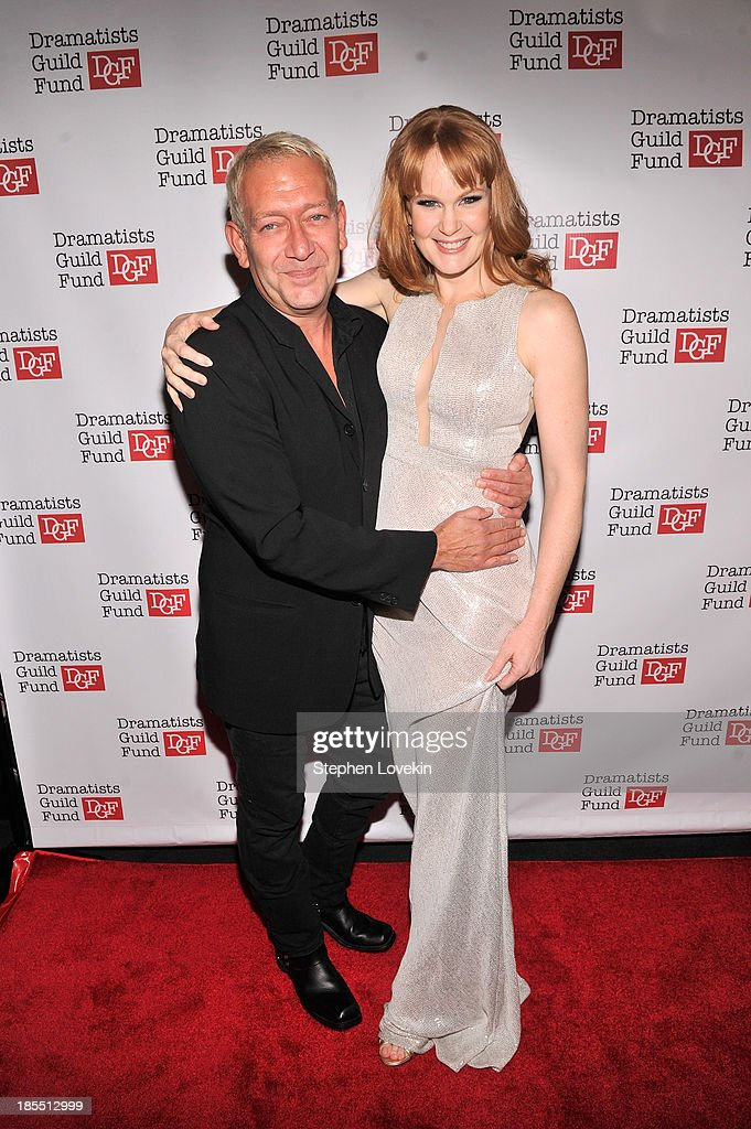 Composer Michael John LaChiusa and actress <a gi-track='captionPersonalityLinkClicked' href=/galleries/search?phrase=Kate+Baldwin&family=editorial&specificpeople=2656972 ng-click='$event.stopPropagation()'>Kate Baldwin</a> attend the Great Writers Thank Their Lucky Stars annual gala hosted by The Dramatists Guild Fund on October 21, 2013 in New York City.