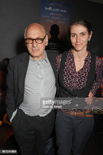 Composer Michael Nyman and Isabella De Maddalena attend the 'Walk With Me' party sponsored by Martin Millers Gin at The Den 100 Wardour St on October...