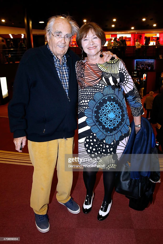 Composer <a gi-track='captionPersonalityLinkClicked' href=/galleries/search?phrase=Michel+Legrand&family=editorial&specificpeople=2004179 ng-click='$event.stopPropagation()'>Michel Legrand</a> and actress <a gi-track='captionPersonalityLinkClicked' href=/galleries/search?phrase=Macha+Meril&family=editorial&specificpeople=672802 ng-click='$event.stopPropagation()'>Macha Meril</a> attend French Humorists Regis Laspales and Philippe Chevallier perform in their show 'Vous reprendrez bien quelques sketchs ?' at Olympia on April 23, 2015 in Paris, France.