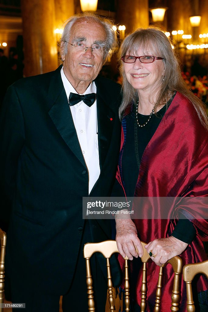 Composer <a gi-track='captionPersonalityLinkClicked' href=/galleries/search?phrase=Michel+Legrand&family=editorial&specificpeople=2004179 ng-click='$event.stopPropagation()'>Michel Legrand</a> and actress Marina Vlady attend Gala of AROP at Opera Garnier with representation of 'La Sylphide' on June 24, 2013 in Paris, France.