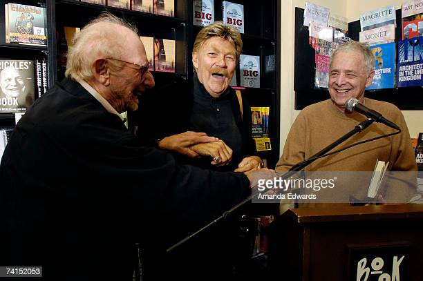 Composer Milton Delugg and comedian Rip Taylor surprise game show producer Chuck Barris while he discusses his book 'The Big Question' at Book Soup...