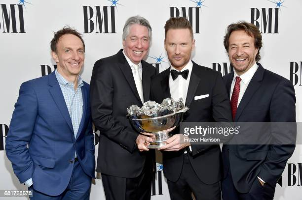 Composer Mychael Danna 2017 BMI Icon Award recipient Alan Silvestri and composers Brian Tyler and Jeff Danna at the 2017 Broadcast Music Inc Film TV...