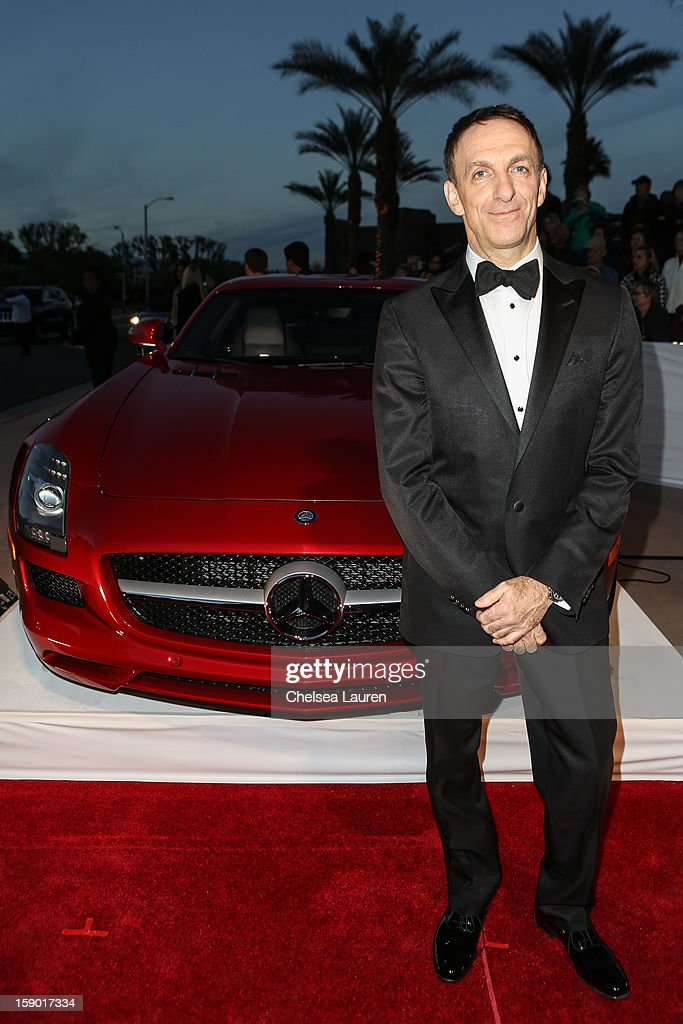 Composer Mychael Danna arrives in style with Mercedes-Benz at the Palm Springs International Film Festival at the Palm Springs Convention Center on January 5, 2013 in Palm Springs, California.