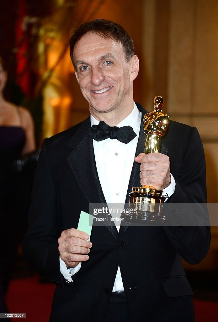 Composer Mychael Danna, winner of the Best Original Score award for 'Life of Pi,' departs the Oscars at Hollywood & Highland Center on February 24, 2013 in Hollywood, California.
