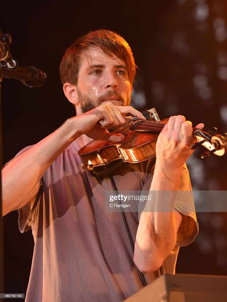 Composer Owen Pallett performs during the 2015 Festival D'ete De Quebec on July 13 2015 in Quebec City Canada