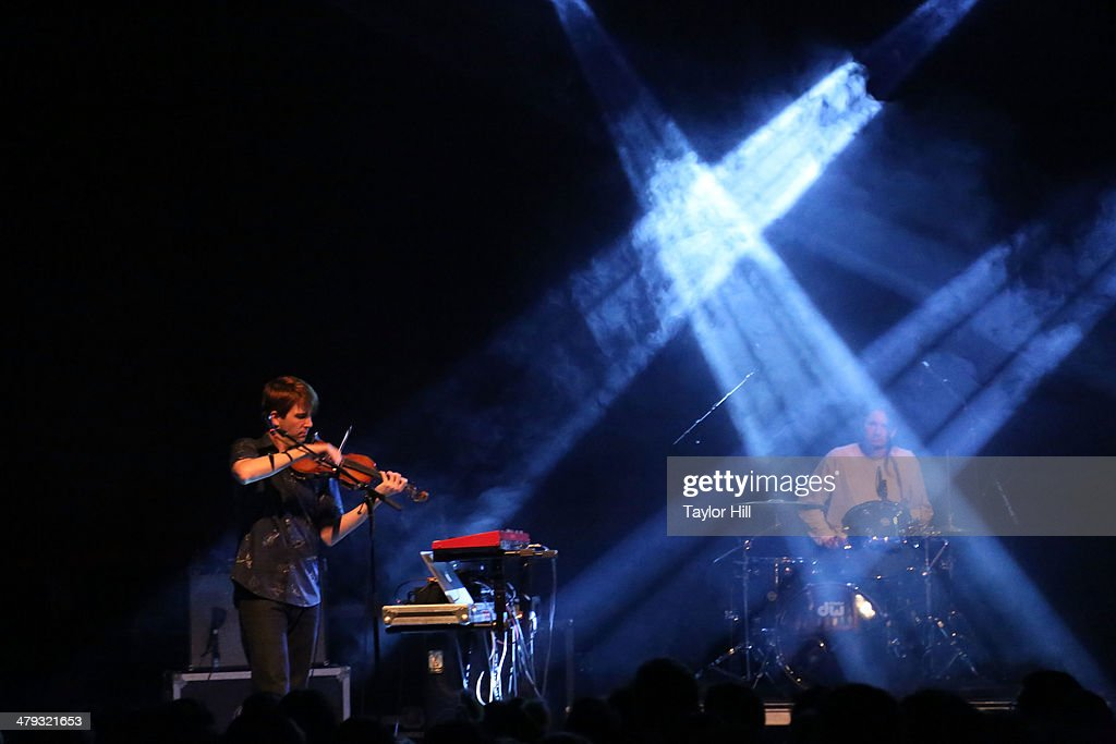 Composer Owen Pallett performs during the official Arcade Fire after party at Union Transfer on March 17 2014 in Philadelphia Pennsylvania