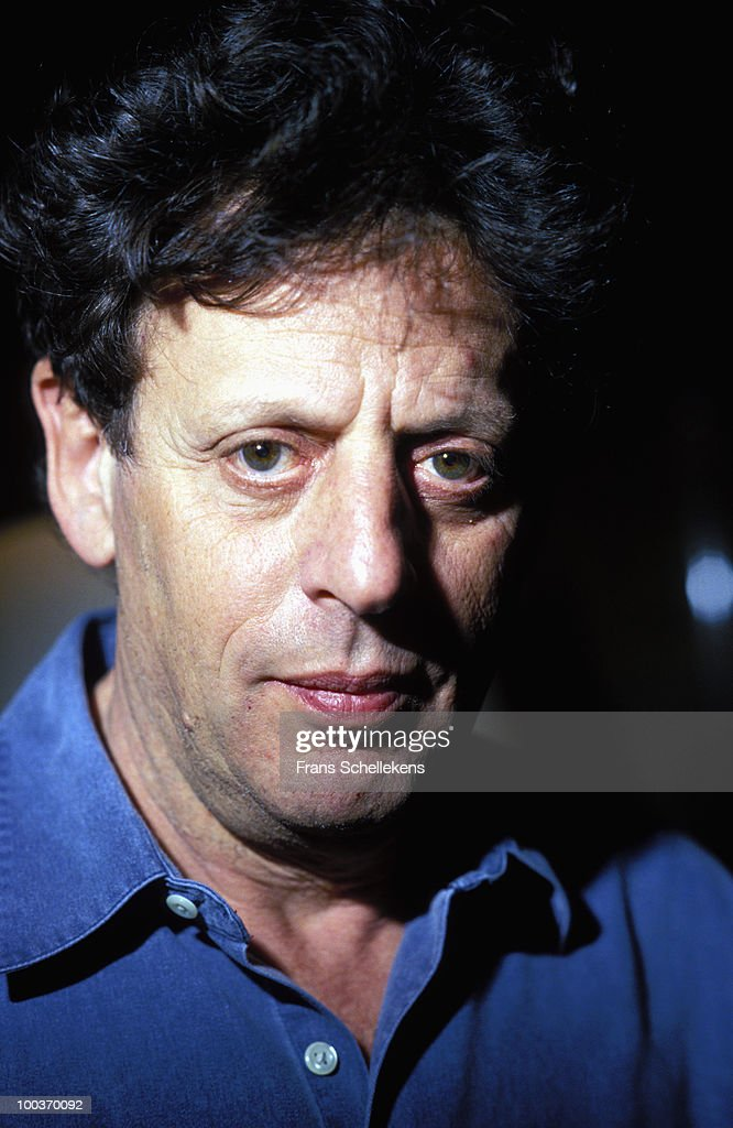 composer Philip Glass posed in Amsterdam, Netherlands on October 21 1993