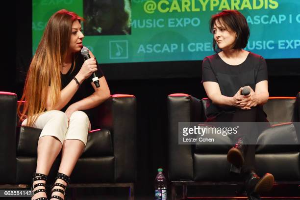 Composer Pinar Toprak and film composer Lesley Barber speak onstage at 'Women in Film Music' during the 2017 ASCAP 'I Create Music' EXPO on April 14...