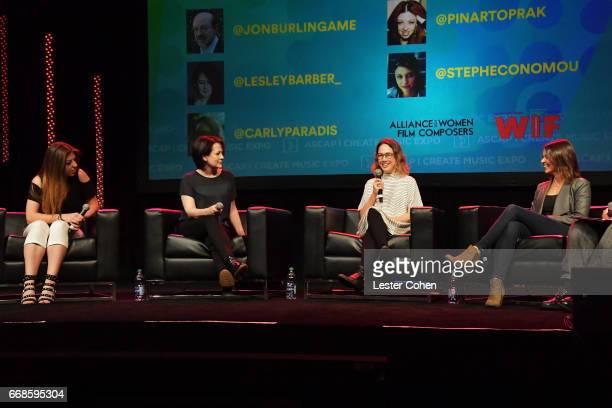 Composer Pinar Toprak film composer Lesley Barber film tv composer Carly Paradis composerviolinist Stephanie Economou and Variety film music writer...