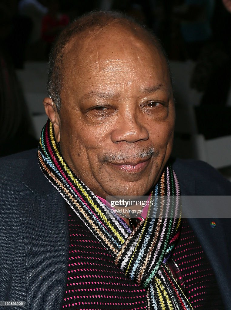 Composer <a gi-track='captionPersonalityLinkClicked' href=/galleries/search?phrase=Quincy+Jones&family=editorial&specificpeople=171797 ng-click='$event.stopPropagation()'>Quincy Jones</a> attends the 35th Anniversary Playboy Jazz Festival news conference at the Playboy Mansion on February 28, 2013 in Beverly Hills, California.