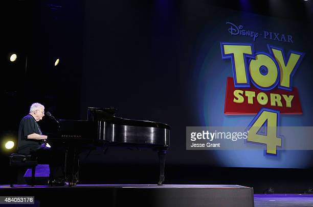 Composer Randy Newman of TOY STORY 1 2 and 3 took part today in 'Pixar and Walt Disney Animation Studios The Upcoming Films' presentation at Disney's...