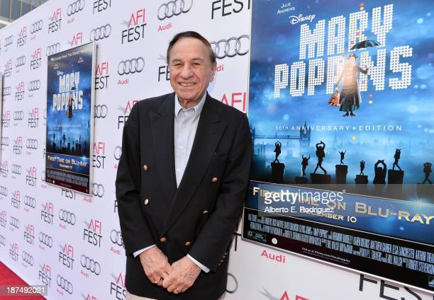 Composer Richard M Sherman attends the 50th anniversary commemoration screening of Disney's 'Mary Poppins' during AFI FEST 2013 presented by Audi at...
