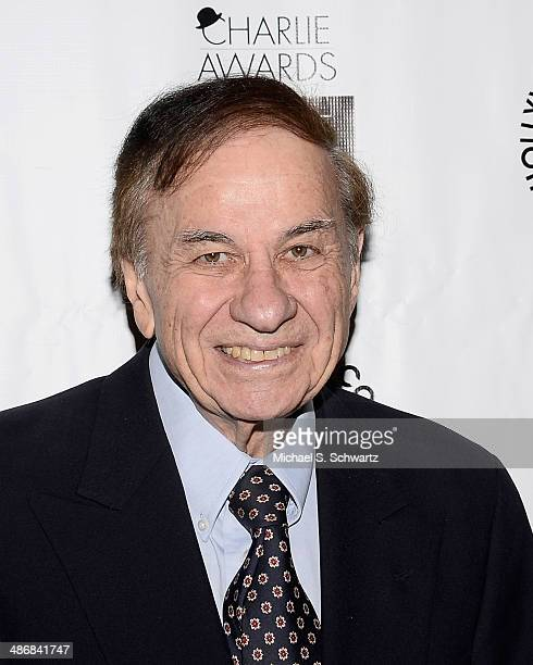 Composer Richard M Sherman attends the Hollywood Arts Council's 28th Annual Charlie Awards at the Hollywood Roosevelt Hotel on April 25 2014 in...