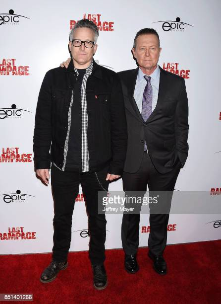 Composer Richard Patrick and actor Robert Patrick attend the Premiere Of Epic Pictures Releasings' 'Last Rampage' at ArcLight Cinemas on September 21...