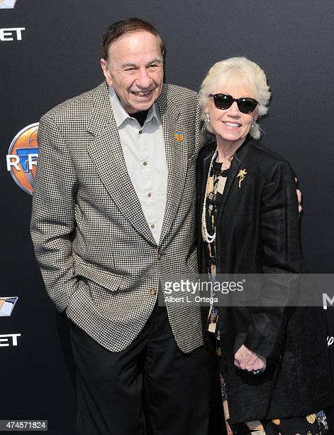 Composer Richard Sherman and wife Elizabeth Sherman arrive for the Premiere Of Disney's 'Tomorrowland' held at AMC Downtown Disney 12 Theater on May...
