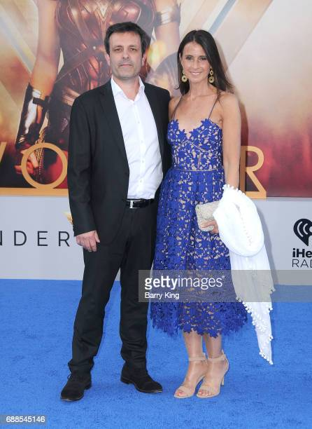 Composer Rupert GregsonWilliams and guest attend the World Premiere of Warner Bros Pictures' 'Wonder Woman' at the Pantages Theatre on May 25 2017 in...