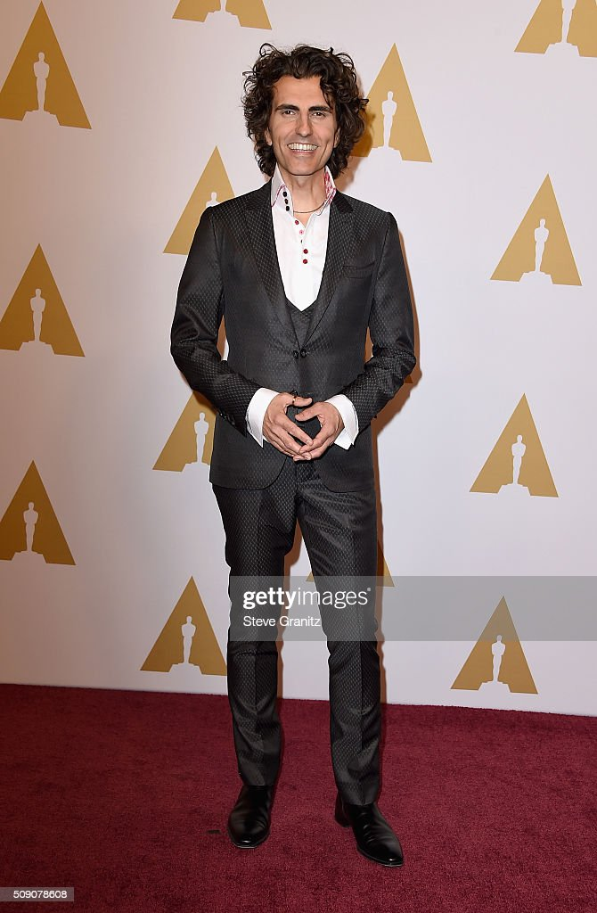Composer Stephan Moccio attends the 88th Annual Academy Awards nominee luncheon on February 8, 2016 in Beverly Hills, California.
