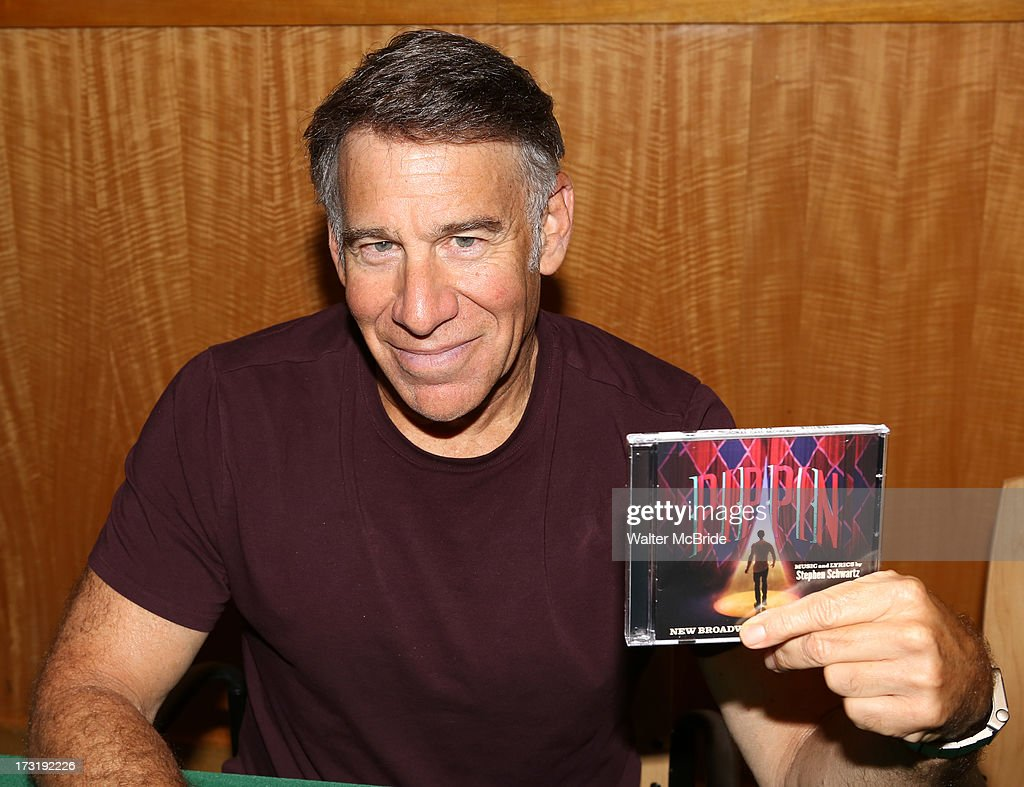 Composer <a gi-track='captionPersonalityLinkClicked' href=/galleries/search?phrase=Stephen+Schwartz&family=editorial&specificpeople=2315334 ng-click='$event.stopPropagation()'>Stephen Schwartz</a> attends the Broadway cast of 'Pippin' performance and CD signing at Barnes & Noble, 86th & Lexington on July 9, 2013 in New York City.