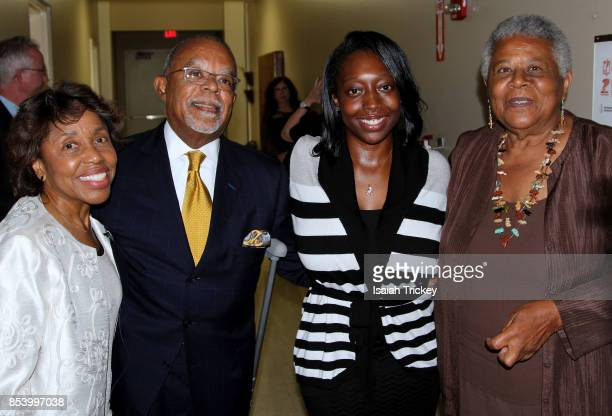 Composer Tania León Dr Henry Louis Gates Jr opera singer Candice Harris and Minnijean Brown Trickey of the Little Rock Nine attend 'Turning History...