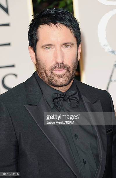 Composer Trent Reznor arrives at the 69th Annual Golden Globe Awards held at the Beverly Hilton Hotel on January 15 2012 in Beverly Hills California