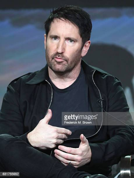 Composer Trent Reznor of 'THE VIETNAM WAR' speaks onstage during the PBS portion of the 2017 Winter Television Critics Association Press Tour at...