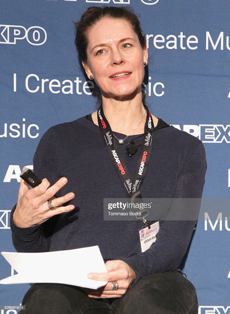 Composer Veronika Krausas speaks onstage at the 2016 ASCAP 'I Create Music' EXPO on April 30, 2016 in Los Angeles, California.