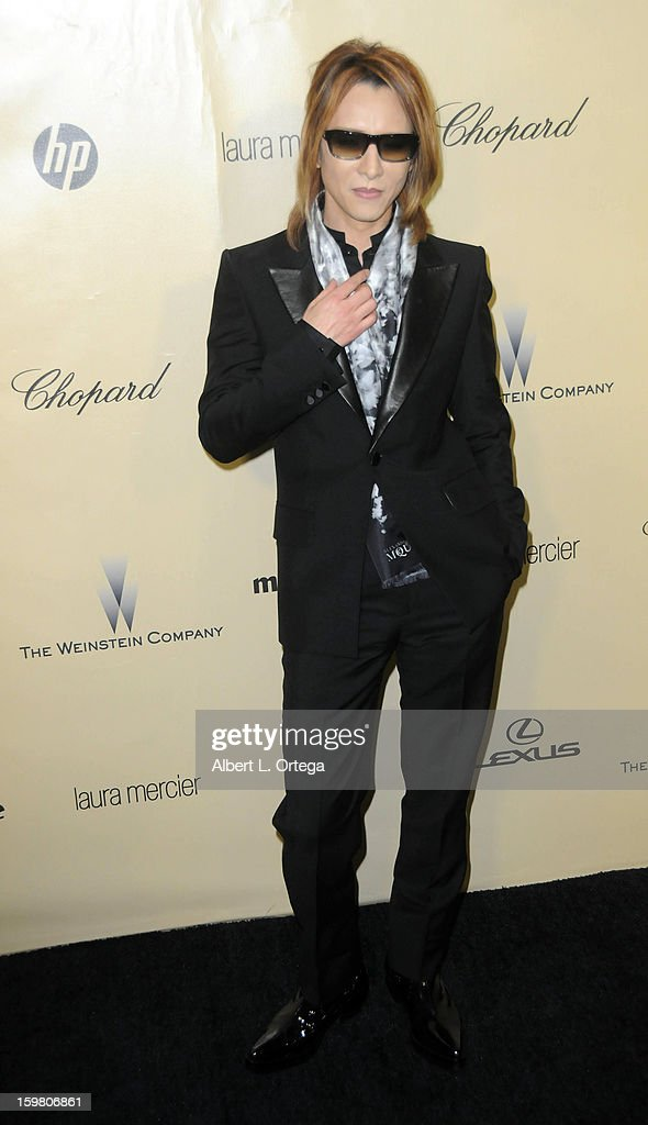 Composer Yoshiki Hayashi arrives for the Weinstein Company's 2013 Golden Globe Awards After Party - Arrivals on January 13, 2013 in Beverly Hills, California.