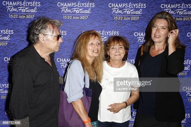 Composer Yves Simon Actress Odile Michel Director Diane Kurys and Actress Eleonore Klarwein attend 'Diabolo Menthe' Retrospective at Cinema Le...