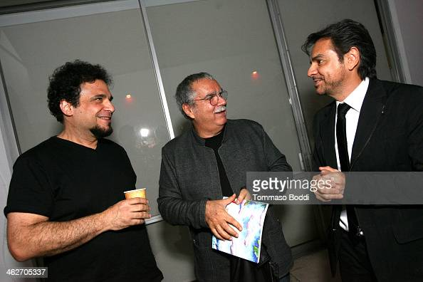 Composer/actor Lee Curreri composer Carlo Siliotto and director/actor Eugenio Derbez attend the 'Instructions Not Included' screening and reception...