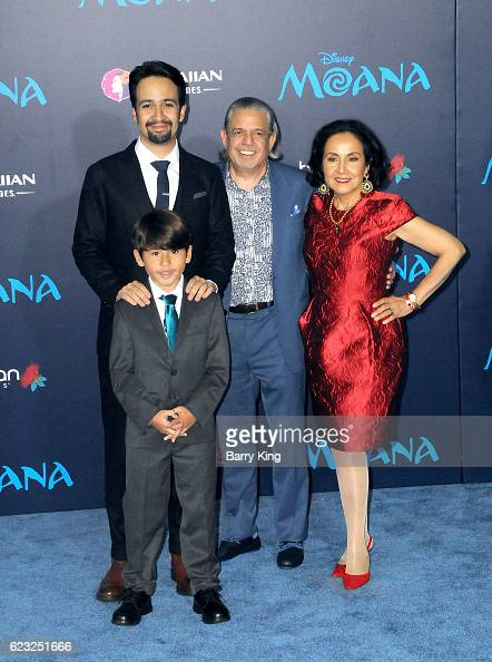 Composer/actor LinManuel Miranda and family attend AFI FEST 2016 Presented By Audi Premiere of Disney's 'Moana' at the El Capitan Theatre on November...