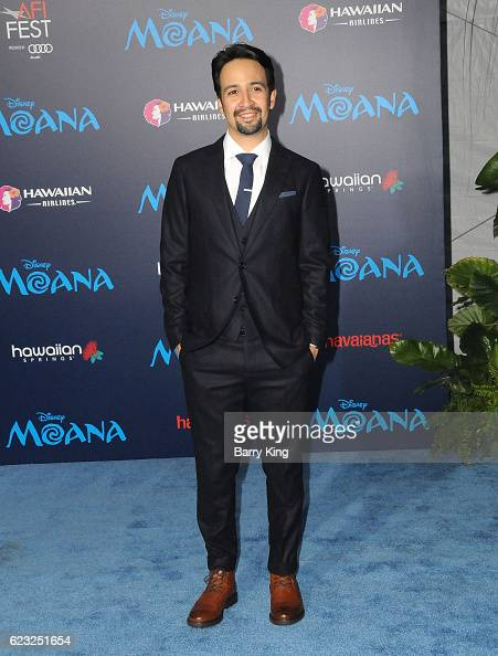 Composer/actor LinManuel Miranda attends AFI FEST 2016 Presented By Audi Premiere of Disney's 'Moana' at the El Capitan Theatre on November 14 2016...