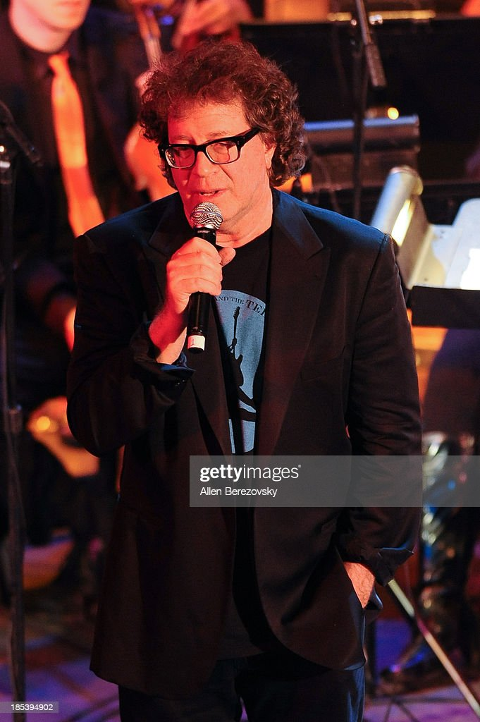 Composer/conductor Randy Edelman performs on stage during Varese Sarabande Worldwide 35th Anniversary Special Halloween Concert Gala at Warner Grand Theatre on October 19, 2013 in San Pedro, California.