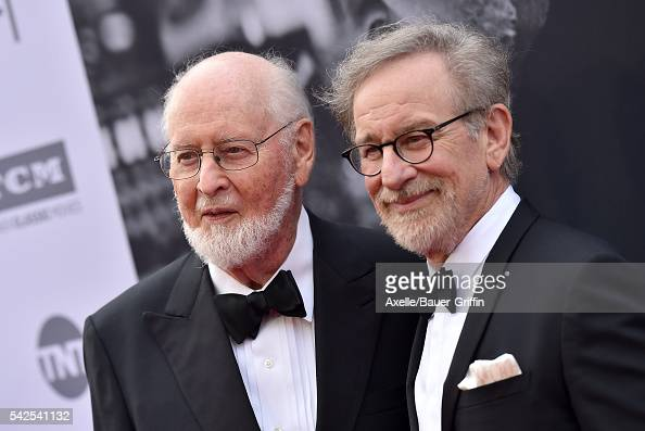 Composer/honoree John Williams and director Steven Spielberg arrive at the 44th AFI Life Achievement Awards Gala Tribute to John Williams at Dolby...