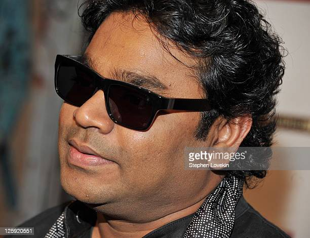 Composer/musician AR Rahman of SuperHeavy attends the SuperHeavy launch party at The Double Seven on September 21 2011 in New York City