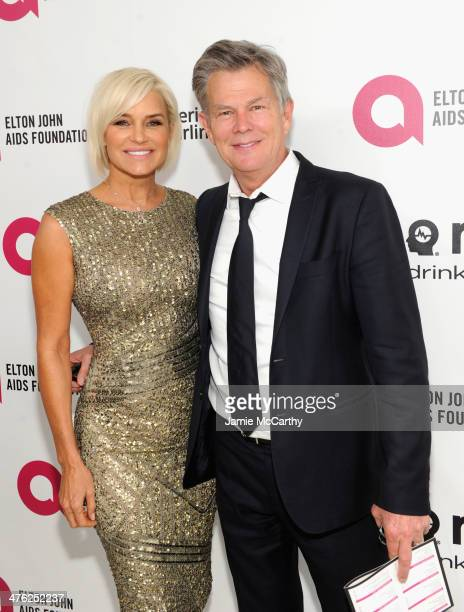 Composer/producer David Foster and tv personality Yolanda Foster attend the 22nd Annual Elton John AIDS Foundation Academy Awards Viewing Party at...
