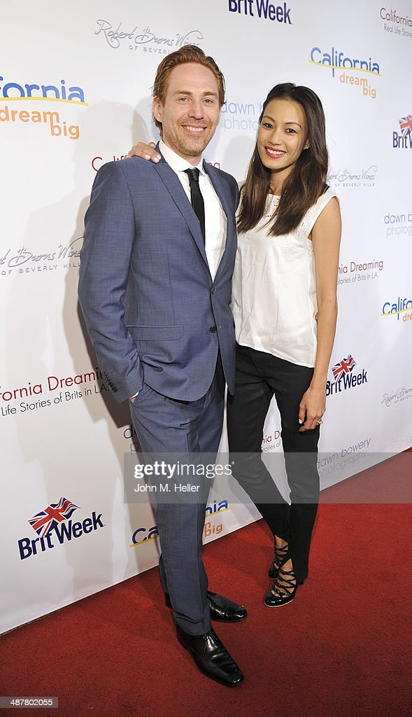Composer/producer Rupert Parkes and Stephanie Parkes attend the Local Woman Lights Up Hollywood a with Dream Book at the L'Ermitage Hotel on May 1, 2014 in Beverly Hills California.