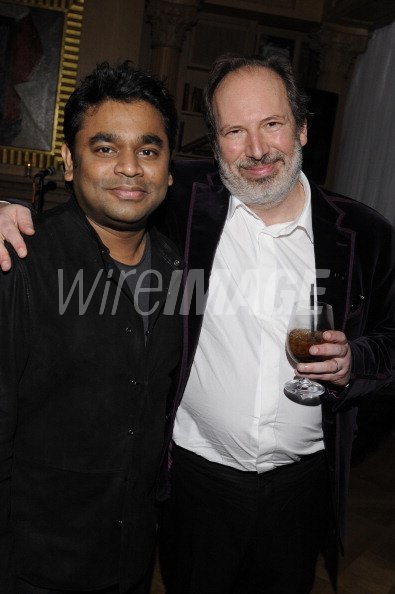 Composers A R Rahman and Hans Zimmer attend Hans Zimmers