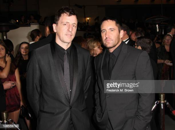 Composers Atticus Ross and Trent Reznor arrive at the 63rd Annual Directors Guild Of America Awards held at the Grand Ballroom at Hollywood Highland...