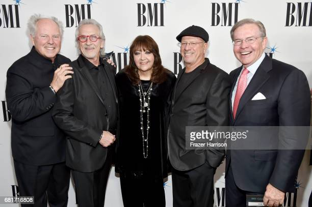 Composers George S Clinton and W G Snuffy Walden BMI Vice President Film TV Visual Media Relations Doreen RingerRoss and composers Mike Post and Jim...