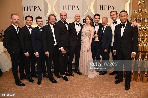 Composers Justin Paul Benj Pasek Justin Hurwitz producers Gary Gilbert Jordan Horowitz Fred Berger actress Emma Stone director Damien Chazelle...