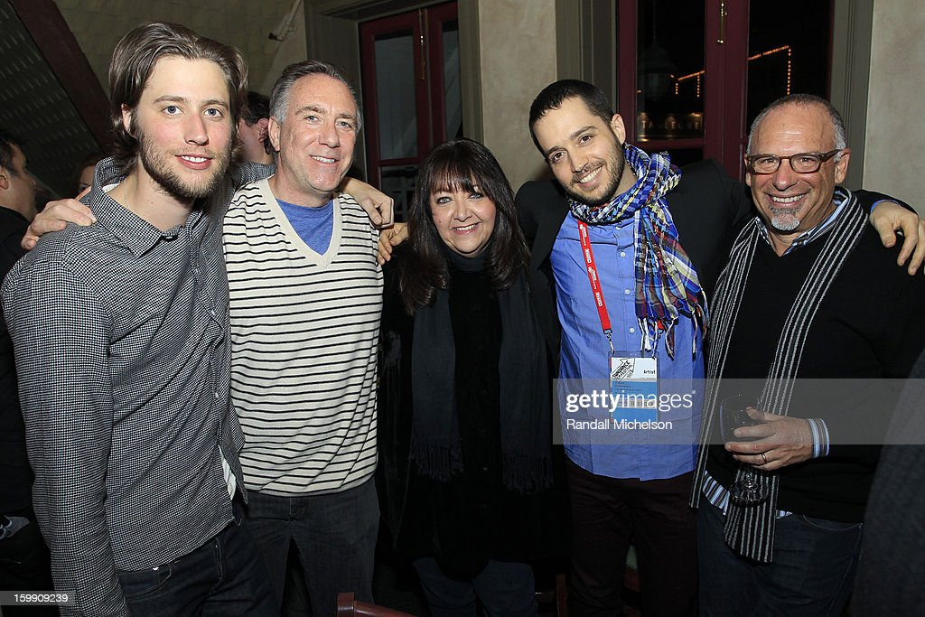 Composers Ludwig Goransson and Brian King, BMI Executive Doreen Ringer-Ross, musician Yotam Silberstein and composer Seth Kaplan attend the BMI Sundance Dinner at Zoom Restaurant on January 22, 2013 in Park City, Utah.